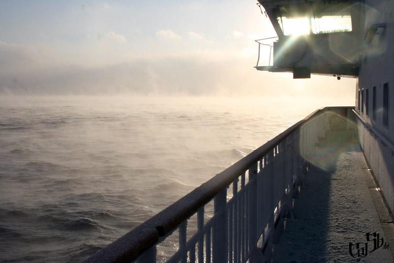 Ein Morgen auf dem Varangerfjord