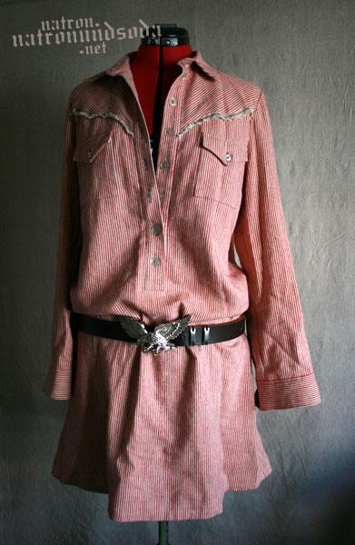 Westernhemdblusenkleid